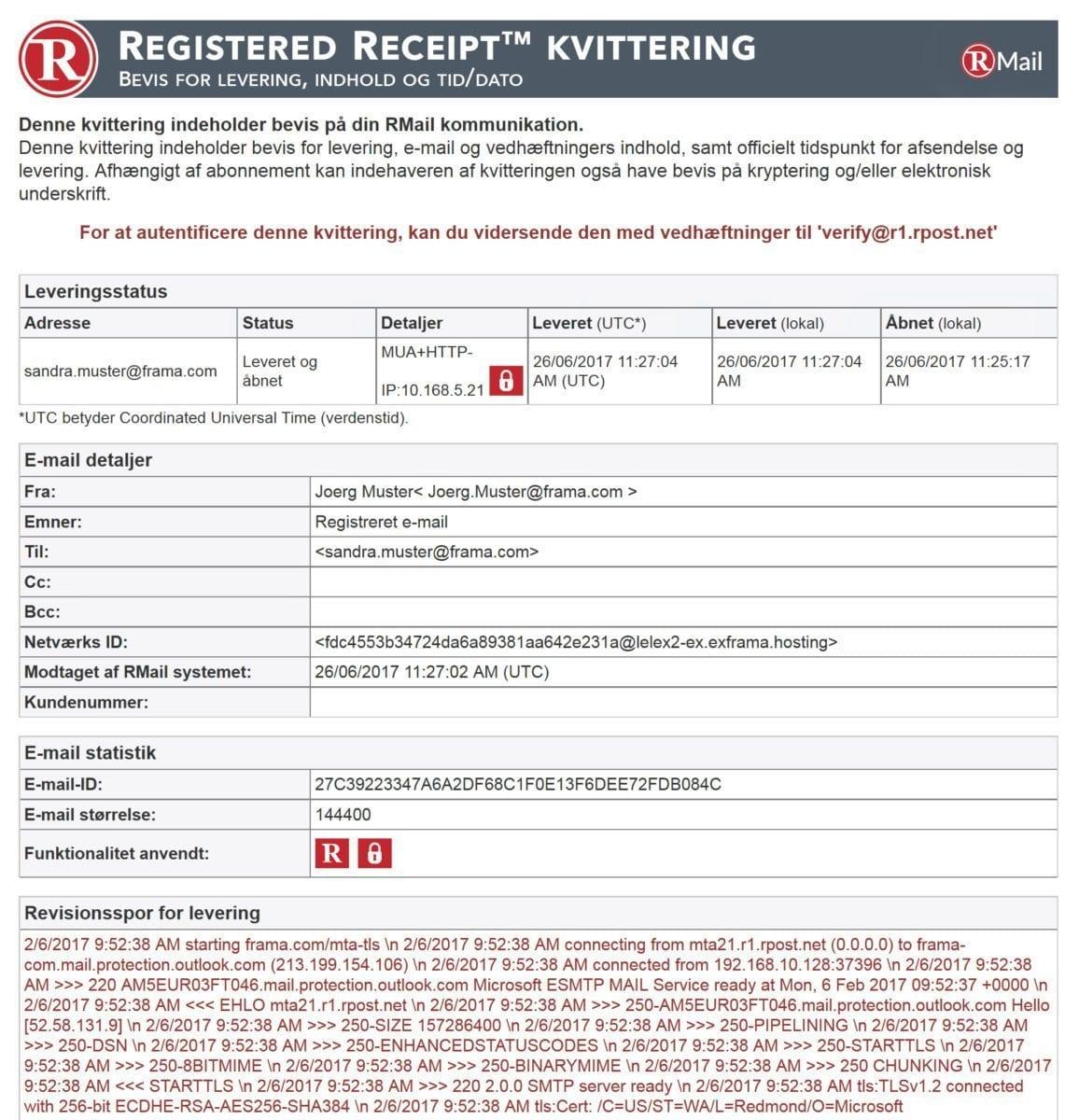 Registreret sporbar e-mail