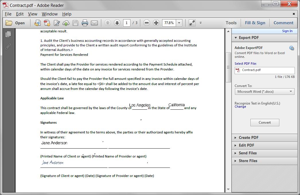 kontrakt e-signatur